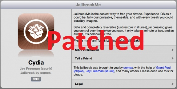 jailbreakme 3.0 patched